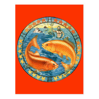 Zodiac Pisces - Customize it! Postcard