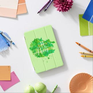 Zodiac Pisces Green Watercolor Gold Stars iPad Mini Cover