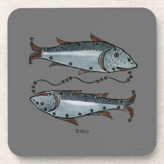 Zodiac: Pisces In Color Coaster