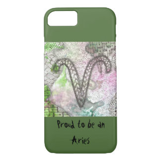 Zodiac: Proud to be an Aries iPhone 7 Case