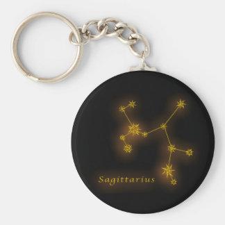 Zodiac - Sagittarius Basic Round Button Key Ring