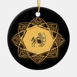 Zodiac Sagittarius - Customize it! Round Ceramic Decoration