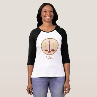 Zodiac Scale Symbol for Libra Horoscope Jersey T-Shirt