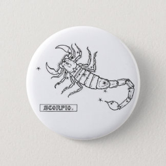 Zodiac Scorpio Button