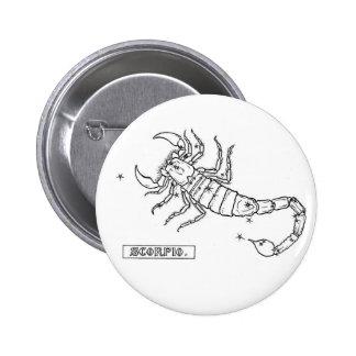 Zodiac Scorpio Button