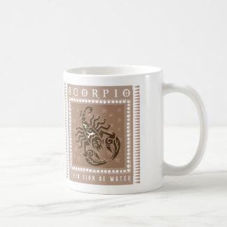 Zodiac Scorpio Coffee Basic White Mug