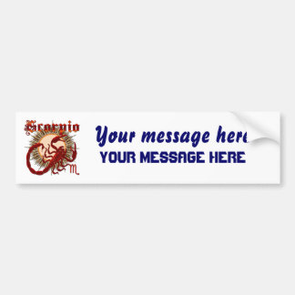 Zodiac Scorpio-Design-1 Bumper Sticker
