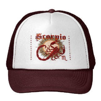 Zodiac Scorpio-Design-1 View Below Hints Hats