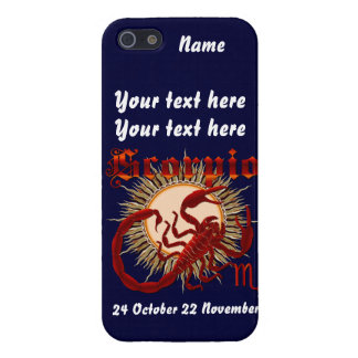 Zodiac Scorpio-Design-1 View Below Hints iPhone 5 Case