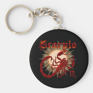 Zodiac Scorpio-Design-1 View Below Hints Keychain