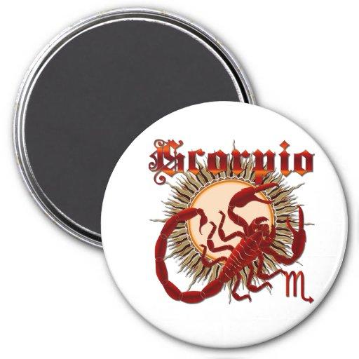 Zodiac Scorpio-Design-1 View Below Hints Refrigerator Magnets