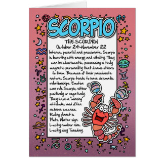 Zodiac - Scorpio Fun Facts Card