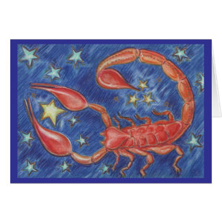 Zodiac Scorpio greetings card