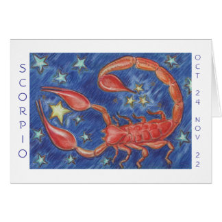 Zodiac Scorpio 'Happy Birthday' card white border