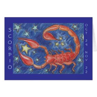 Zodiac Scorpio 'Happy Birthday' greeting card