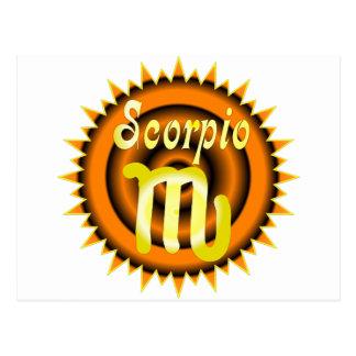 Zodiac Scorpio Post Card