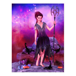Zodiac Series: Scorpio Postcard