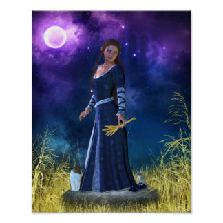 Zodiac Series: Virgo Canvas/Poster Print