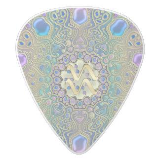 Zodiac Sign Aquarius  Mandala Guitar Pick