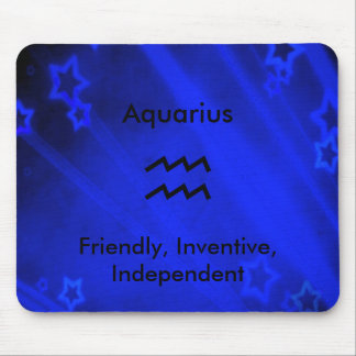 Zodiac Sign: Aquarius Mouse Pad