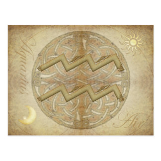 Zodiac Sign Aquarius Postcard