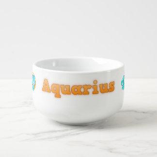Zodiac sign Aquarius Soup Mug