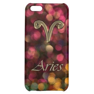 Zodiac Sign Aries Glitter Bokeh Astrology Case iPhone 5C Cover