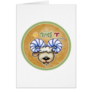 Zodiac Sign Aries - March & April Birthdays Greeting Card