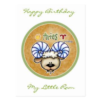 Zodiac Sign Aries - March April Birthdays Postcard