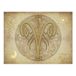 Zodiac Sign Aries Postcard