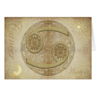 Zodiac Sign Cancer Greetings and Notecards Card