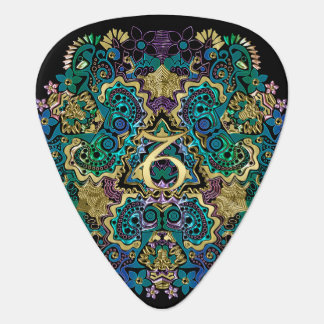 Zodiac Sign Capricorn Black Mandala Guitar Pick