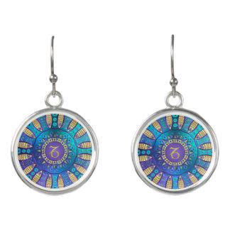 Zodiac Sign Capricorn Mandala Earrings