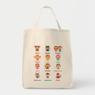 Zodiac Sign for Kids Tote Bags