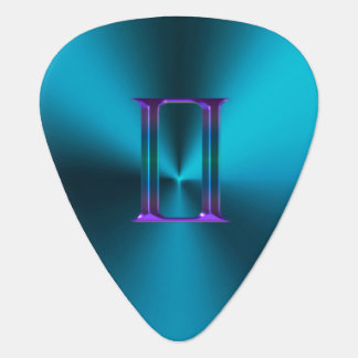 Zodiac Sign Gemini Colorful Monogram Guitar Pick