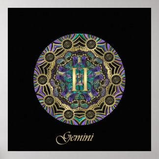 Zodiac Sign Gemini Mandala