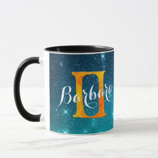 Zodiac Sign Gemini on a Starry Sky Background Mug