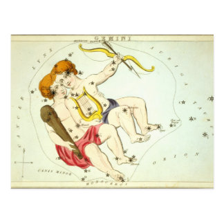 Zodiac Sign: Gemini Postcard