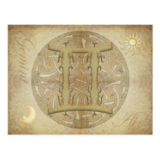 Zodiac Sign Gemini Postcard