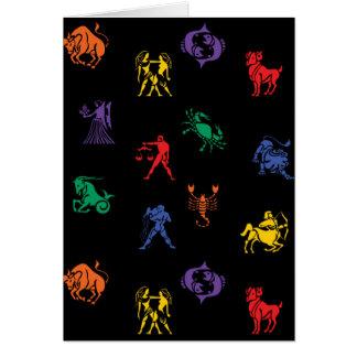 Zodiac Sign Icon Card