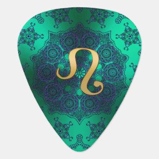 Zodiac Sign Leo Lace Mandala Guitar Pick