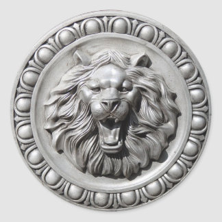 Zodiac Sign Leo Lion Face Sticker