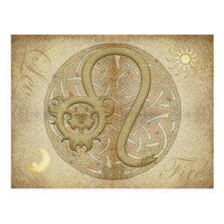 Zodiac Sign Leo Postcard