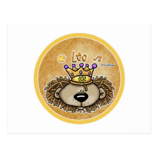 Zodiac Sign - Leo The Lion - July & August Postcard