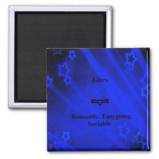 Zodiac Sign: Libra 2 Inch Square Magnet