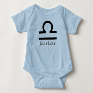 Zodiac Sign Libra Horoscope Baby Blue One Piece Baby Bodysuit