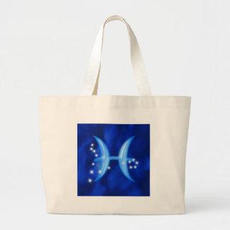 Zodiac sign Pisces Canvas Bag