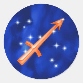 Zodiac sign Sagittarius Round Sticker