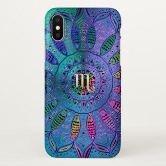 Zodiac Sign Scorpio Mandala iPhone X Case