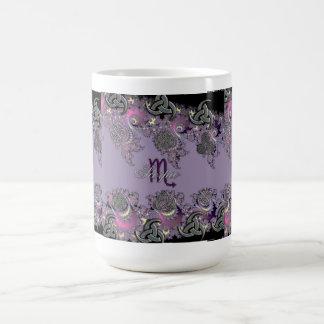 Zodiac Sign Scorpio Mystic Fractal Cup Basic White Mug